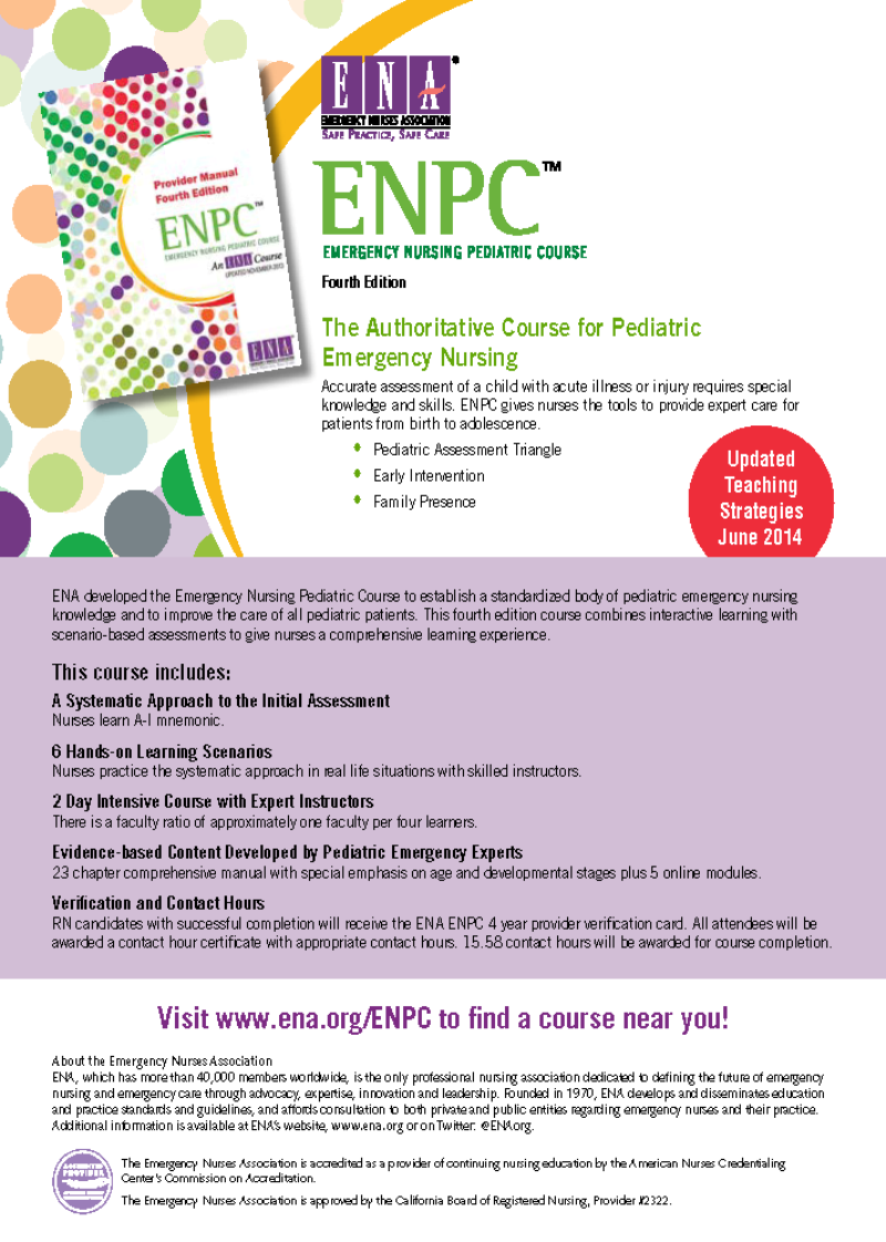 ENPC, Emergency Nursing Pediatric Course - Orange County, Southern ...
